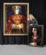 Ingrid Dee Magidson with her artwork
