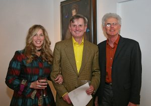 Artist Ingrid Dee Magidson with Alan Fletcher and David Floria