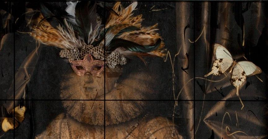 Queen of Masquerade Detail - face