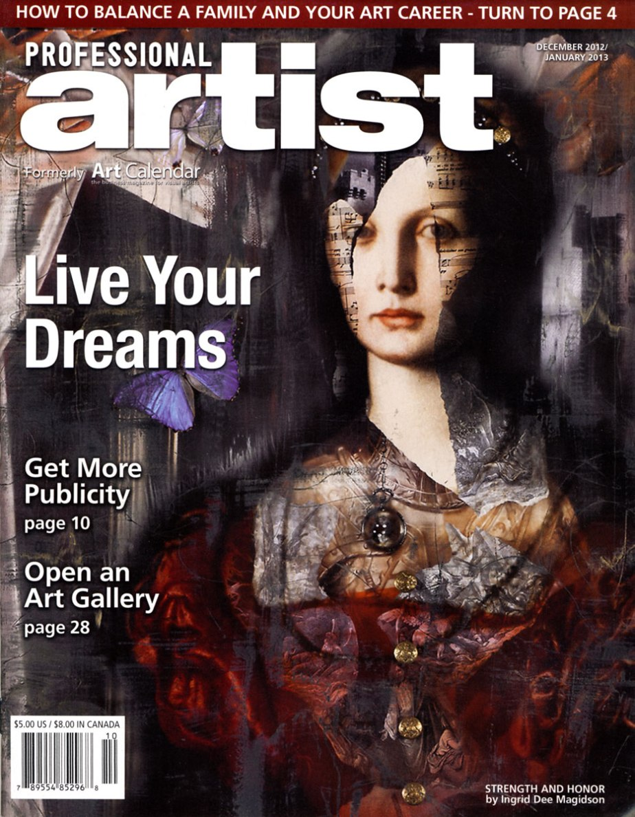 Ingrid Featured on the Cover of Professional ArtistMagazine