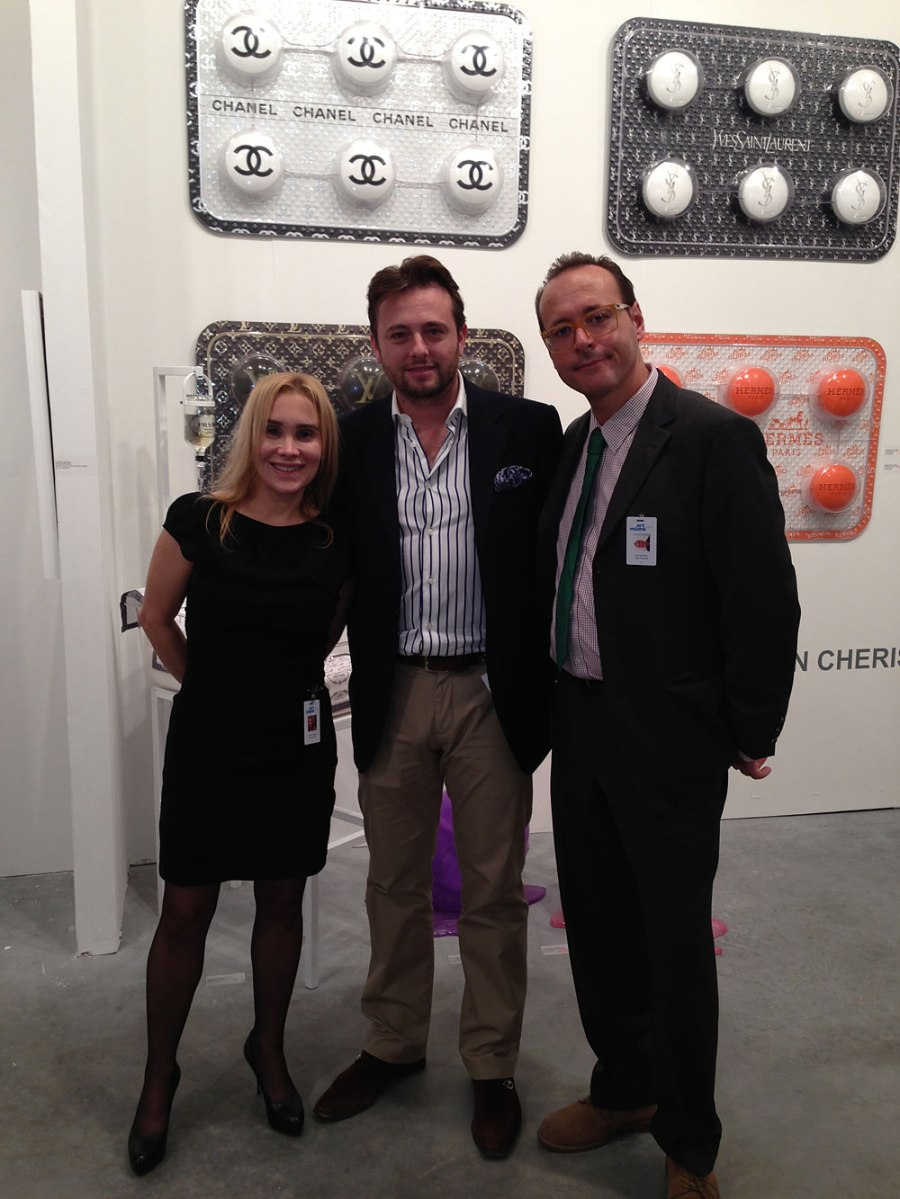 Daniela & Alex Cesaria Owners of Unix Fine Art, Art Miami
