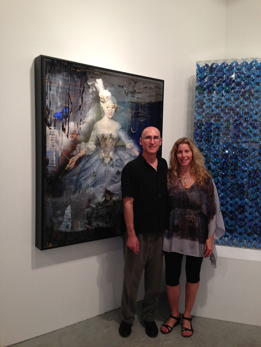 Jay & Ingrid at Art Miami at the Unix Fine Art Booth