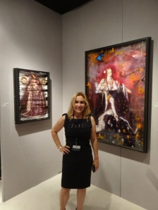Daniela Mercury, Owner of Unix Gallery in Front of Ingrid's Works