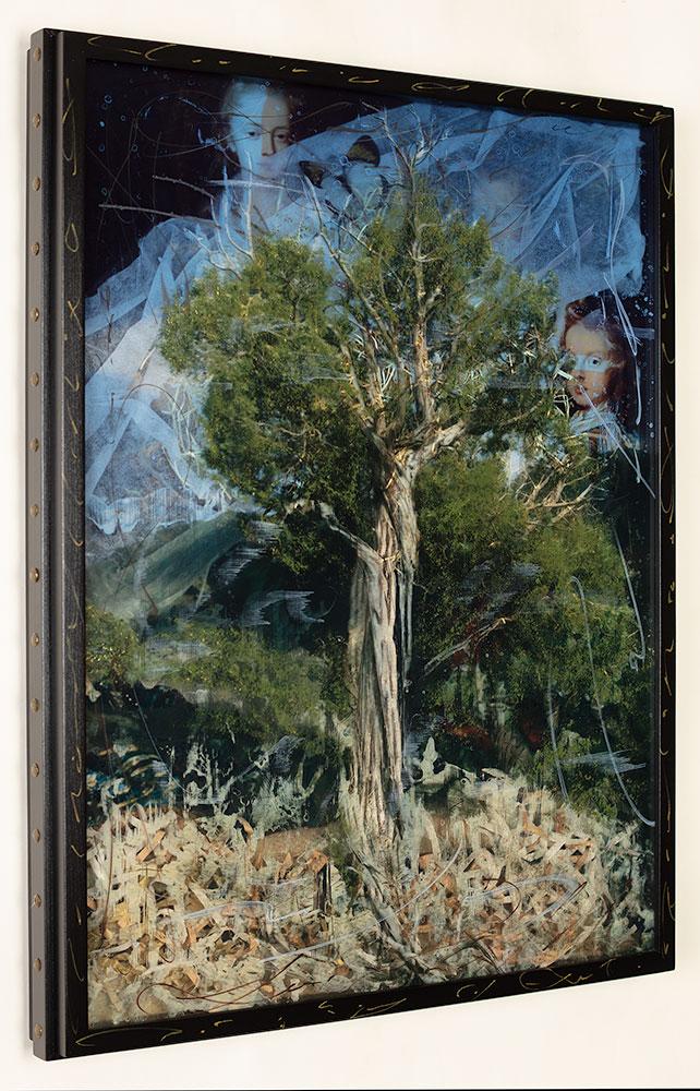 The Family Tree II, 34 x 24, Layered Mixed Media